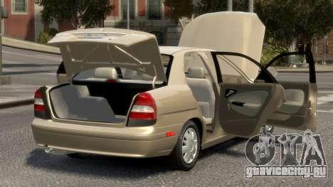 Daewoo Nubira II Sedan SX USA 2000 для GTA 4 вид сверху