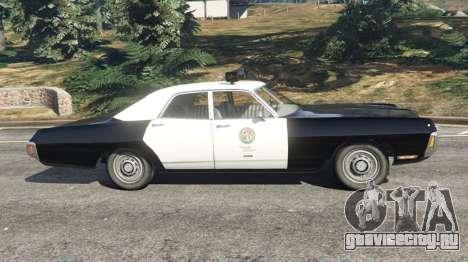 Dodge Polara 1971 Police v4.0 для GTA 5 вид слева