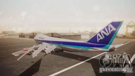 Boeing 747SR All Nippon Airways (NC) для GTA San Andreas вид сзади слева
