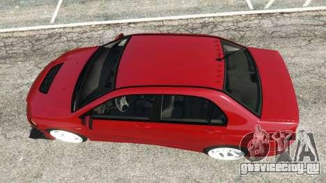 Mitsubishi Lancer Evolution IX Dk для GTA 5 вид сзади