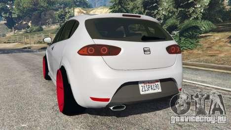 SEAT Leon II 2010 v1.1 для GTA 5 вид сзади слева