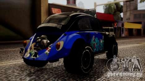 Volkswagen Beetle Vocho-Buggy для GTA San Andreas вид слева