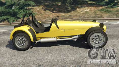 Caterham Super Seven 620R v1.5 [yellow] для GTA 5 вид слева