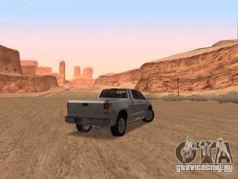 Toyota Tundra для GTA San Andreas вид справа