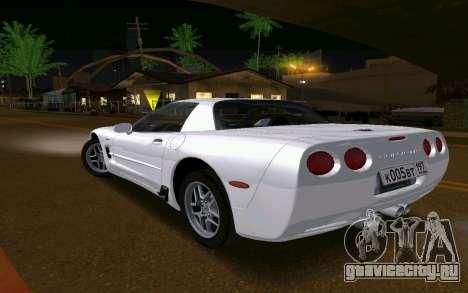 Chevrolet Corvette C5 2003 для GTA San Andreas вид сзади слева