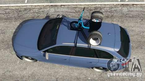 Audi RS4 Avant 2014 для GTA 5 вид сзади