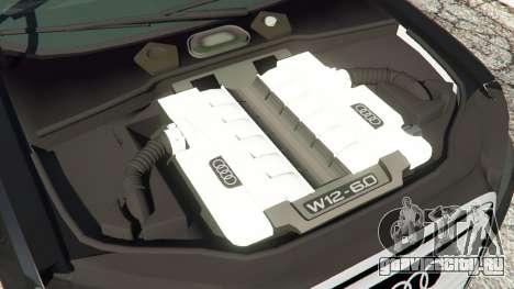 Audi A8 для GTA 5 вид справа