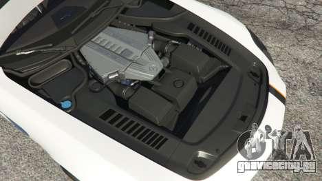 Mercedes-Benz SLS AMG Coupe для GTA 5 вид сзади справа