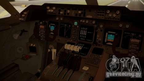 Boeing 747-8I Air India для GTA San Andreas вид сзади
