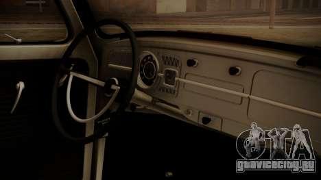 Volkswagen Beetle Aircooled для GTA San Andreas вид справа