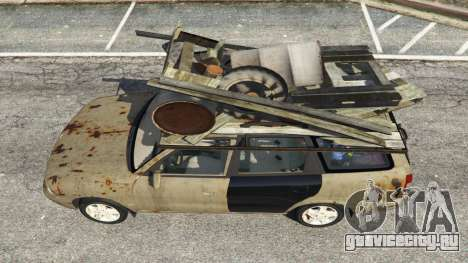 Daewoo Nubira I Wagon CDX US 1999 [Rusty] для GTA 5 вид сзади