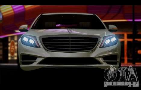 Mercedes Benz S63 W222 Качественный Сток для GTA San Andreas вид изнутри