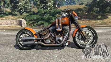 Harley-Davidson Fat Boy Lo Racing Bobber v1.2 для GTA 5 вид слева