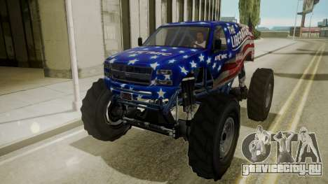 GTA 5 Vapid The Liberator для GTA San Andreas вид изнутри