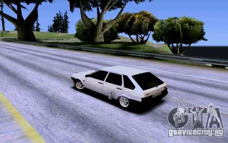 ВАЗ 2109 Турбо для GTA San Andreas вид снизу