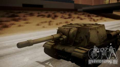 ISU-152 from World of Tanks для GTA San Andreas вид сзади