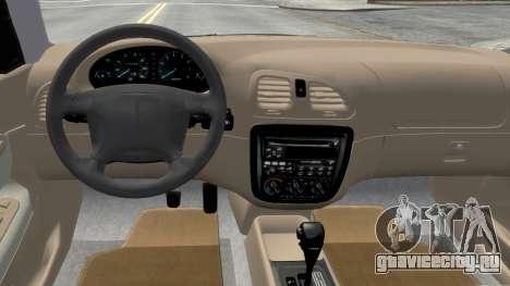 Daewoo Nubira I Sedan SX USA 1999 для GTA 4 вид изнутри