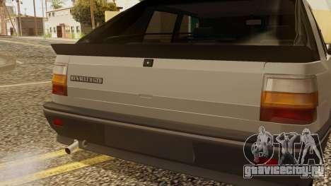 Renault 11 Perfil Bajo для GTA San Andreas вид сзади