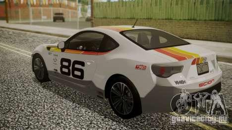 Toyota GT86 2012 для GTA San Andreas колёса