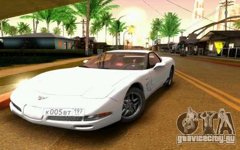 Chevrolet Corvette C5 2003 для GTA San Andreas вид сверху