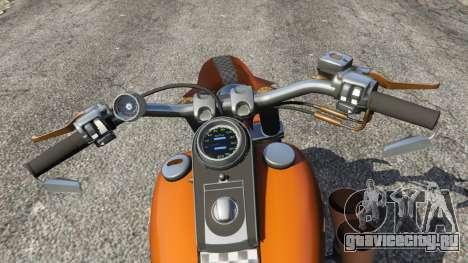 Harley-Davidson Fat Boy Lo Racing Bobber v1.2 для GTA 5 вид сзади справа