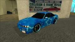 Nissan Silvia S14 Drift Blue Star для GTA San Andreas