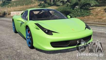 Ferrari 458 Italia 2009 v1.6 для GTA 5