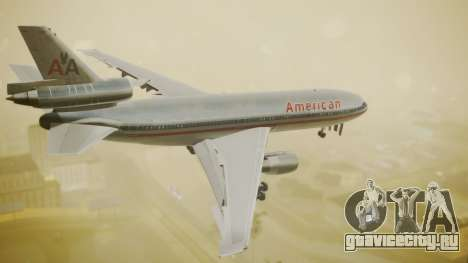 DC-10-10 American Airlines Luxury Liner для GTA San Andreas вид слева