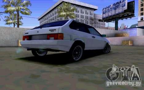 Ваз 2108 V2 для GTA San Andreas вид справа