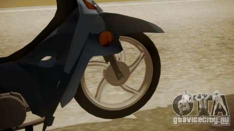 Honda Wave для GTA San Andreas вид сзади слева