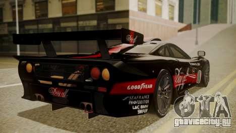 McLaren F1 GTR 1998 Day Off для GTA San Andreas вид слева