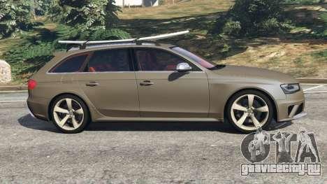 Audi RS4 Avant 2013 для GTA 5 вид слева