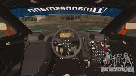 McLaren F1 GTR 1998 для GTA San Andreas вид сзади