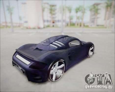 Ruf CTR 3 2015 для GTA San Andreas вид сзади слева