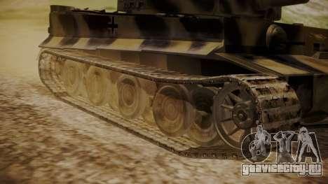 Panzerkampfwagen VI Tiger Ausf. H1 No Interior для GTA San Andreas вид сзади слева