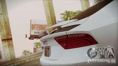 Audi RS7 Sportback 2015 для GTA San Andreas двигатель
