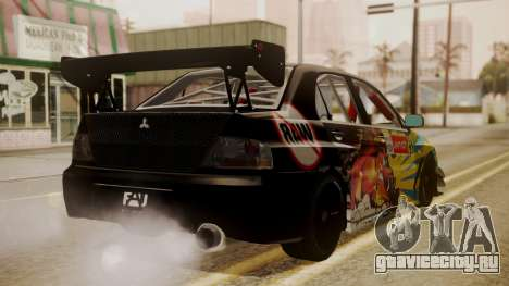 Mitsubishi Lancer Evolution Pushkar для GTA San Andreas вид слева