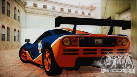 McLaren F1 GTR 1996 Gulf (GoodWood 2008) для GTA San Andreas вид слева