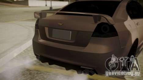 Chevrolet Lumina SS 2011 K.N Edition для GTA San Andreas вид сзади