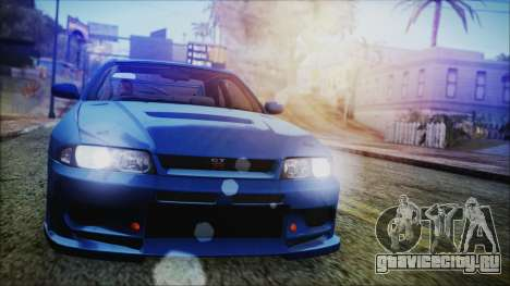 Nissan Skyline R33 Kantai Collection Kongou PJ для GTA San Andreas
