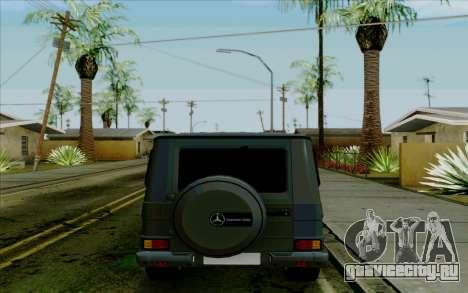 Mercedes-Benz G500 1999 для GTA San Andreas вид сзади