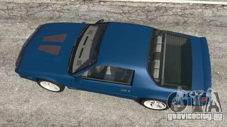 Chevrolet Camaro IROC-Z [Beta 3] для GTA 5 вид сзади