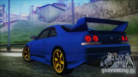 Nissan Skyline R33 Kantai Collection Kongou PJ для GTA San Andreas вид слева