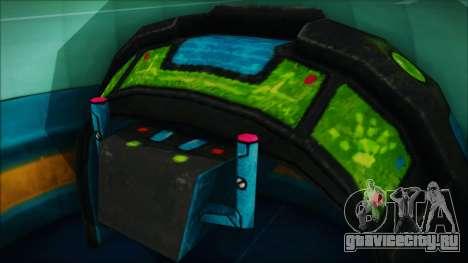X808 UFO для GTA San Andreas вид сзади слева