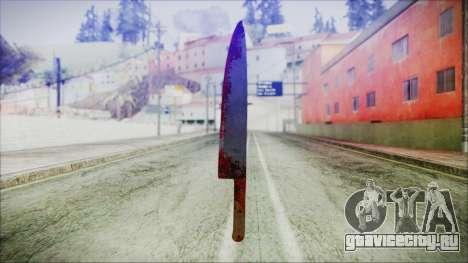 Helloween Butcher Knife для GTA San Andreas второй скриншот
