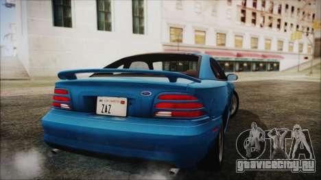 Ford Mustang GT 1993 v1.1 для GTA San Andreas вид слева
