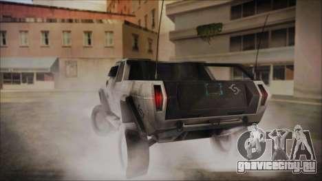Hummer H2 C.E.L.L. Crysis 2 для GTA San Andreas вид слева