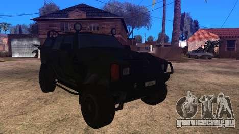Komatsu LAV 4x4 Unarmed для GTA San Andreas вид сзади слева