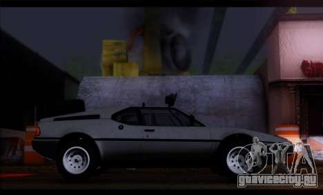 BMW M1 E26 Rusty Rebel для GTA San Andreas вид слева