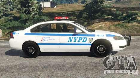 Chevrolet Impala NYPD для GTA 5 вид слева